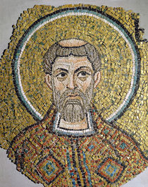 St. Ursicinus: Fragment of a mosaic from the Basilica Ursiana by Italian School