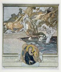 Illustration from Dante's 'Divine Comedy' by Franz von Bayros