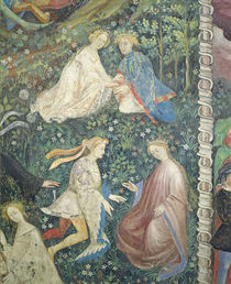 Lovers in a garden in May von Maestro Venceslao