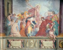 Lorenzo de Medici and Apollo welcome the muses and virtues to Florence von Cecco Bravo