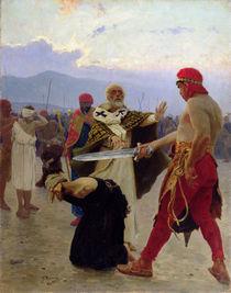 Saint Nicholas of Myra saves three innocents from death von Ilya Efimovich Repin