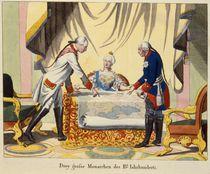 Joseph II, Catherine the Great and Frederick II von German School