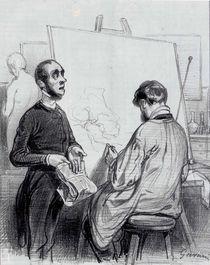 The Critic, published in 'Lecons et Conseils' von Paul Gavarni