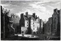 Old Tolbooth, Edinburgh, engraved by Edward Finden von Alexander Nasmyth