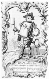The Butcher, published 1746 by English School
