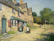Cotswold village, 1917 by William Kay Blacklock