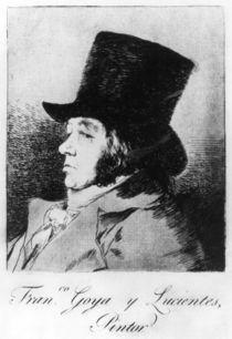 Self Portrait, plate 1 of 'Los caprichos' by Francisco Jose de Goya y Lucientes
