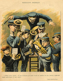 Band rehearsal, from the back cover of 'Le Rire' by Alfred Le Petit