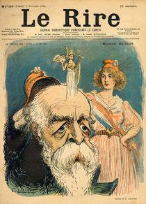 Caricature of Henri Brisson von Charles Leandre