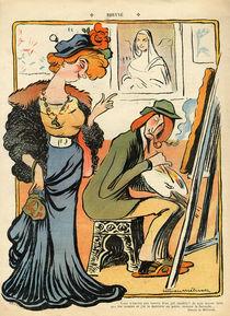 Phryne: caricature of an artist's model von Lucien Metivet