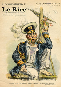 George V, 'The Simple', the first Midshipman of the Royal Navy von Charles Leandre