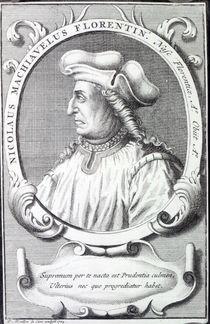 Niccolo Machiavelli, 1724 by Francois Morellon la Cave