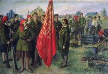 Militarised Komsomol, 1930 by Ivan Semyonovich Kulikov