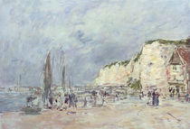 The Cliffs at Dieppe and the 'Petit Paris' by Eugene Louis Boudin