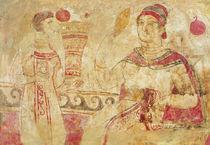 Woman at her toilet, funerary scene von Etruscan