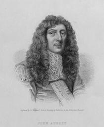 John Aubrey, engraved by Charles Eden Wagstaff von William Faithorne