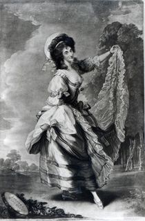 Giovanna Baccelli, engraved by John Jones by Thomas Gainsborough
