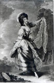 Giovanna Baccelli, engraved by John Jones von Thomas Gainsborough