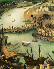 The Port of Seville, c.1590 von Alonso Sanchez Coello
