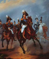 Nicholas I with his officers von Franz Kruger