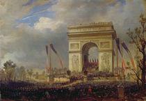 Fete de la Fraternite at the Arc de Triomphe von Hippolyte Victor Valentin Sebron