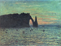 The Hollow Needle at Etretat by Claude Monet