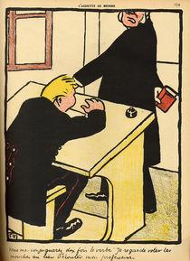 A teacher reprimands his pupil von Felix Edouard Vallotton