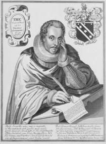 Portrait of Sir Thomas Overbury writing out his epitaph von English School