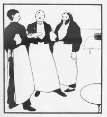 Garcons de Cafe, illustration form 'The Yellow Book' von Aubrey Beardsley