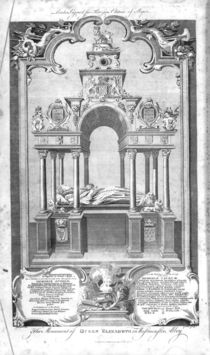 The Monument of Queen Elizabeth in Westminster Abbey von Hubert Gravelot