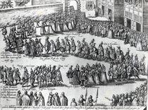 Procession for the wedding of Frederick V by Abraham Hogenberg