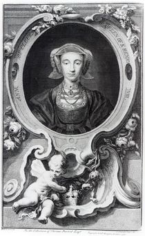 Anne of Cleves, engraved by Jacobus Houbraken von Hans Holbein the Younger