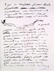 Letter von Giacomo Puccini