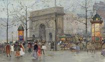 Street scene in Paris by Eugene Galien-Laloue