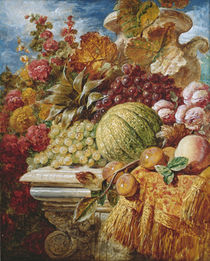 Still life with fruit von George Lance