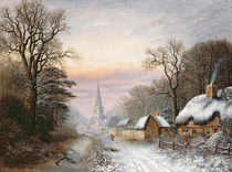 Winter landscape, 1869 by Charles Leaver