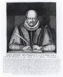 John Stowe, portrait from his monument at the Church of St. Andrew by English School