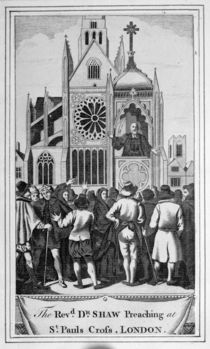 The Reverend Dr. Shaw Preaching at St. Paul's Cross by English School