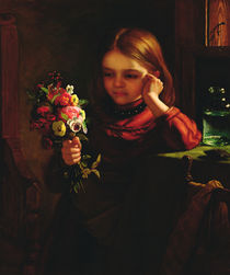 Girl with Flowers by John Davidson