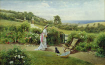 In the Garden, 1903 by Thomas James Lloyd