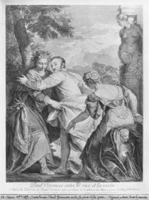 Veronese between Vice and Virtue by Louis Desplaces