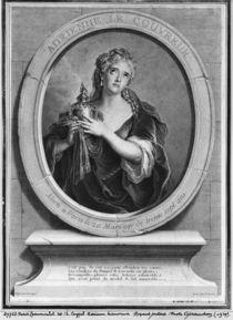 Adrienne Lecouvreur engraved by Pierre Drevet von Charles Antoine Coypel