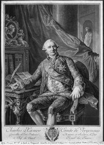 Charles Gravier, Count of Vergennes von Antoine Francois Callet