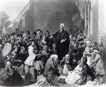 John Wesley preaching von English School