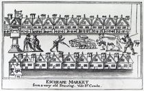 Escheape Market, after an original drawing from c.1598 von English School