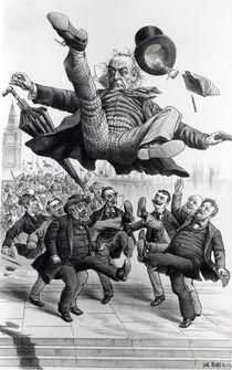 Gladstone being kicked out of parliament von Tom Merry