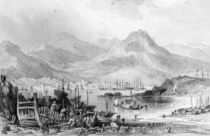 Hong-Kong from Kow-loon, engraved by Samuel Fisher von Thomas Allom