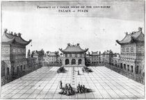 Prospect of the Inner Court of the Emperor's Palace at Pekin von English School