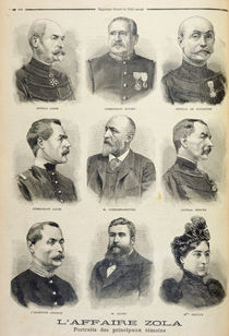 The Zola Affair: portraits of the main witnesses von French School