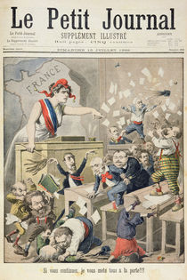 Title page depicting a ruckus in the House of Deputies by Henri Meyer